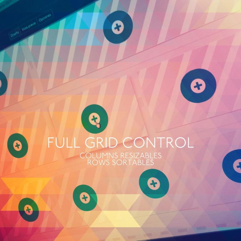 Control completo del diseño de forma visual